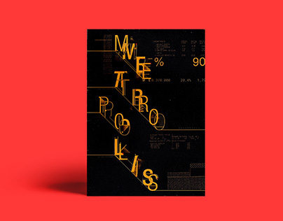METRÓPOLIS | Desplegable Tipográfico