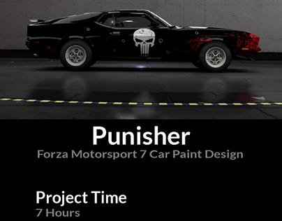 Punisher Forza Motorsport 7 Car Paint Design