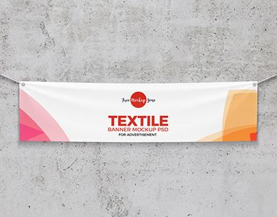 Free Elegant Textile Banner Mockup