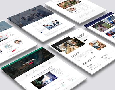 Random Web Sites Design Collage
