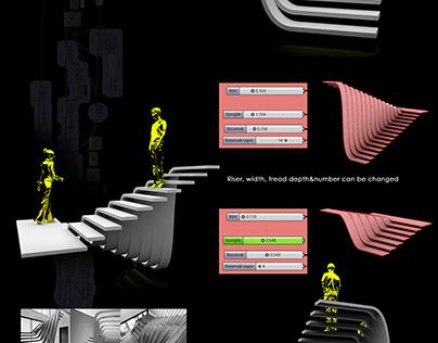 Flowing Stair Design - Rhino Grasshopper
