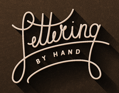 LETTERING - by hand