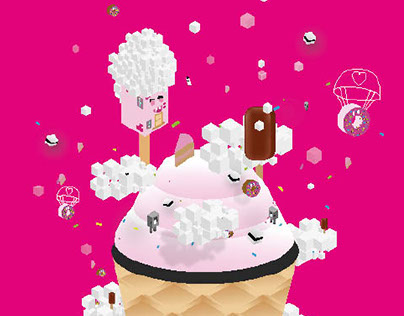 Affiche Sucre Daddy -Sucrerie - Pixel Art