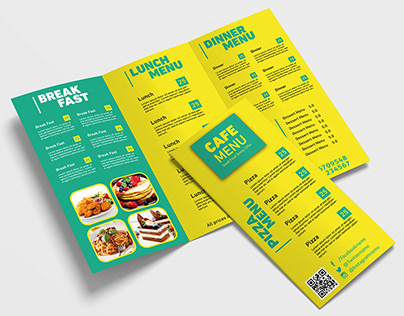 Trifold Brochure Restaurant Menu Template - A4