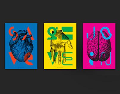 Poster series save–give–join
