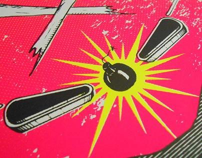 SHOCK ! - Pinball - Artprint
