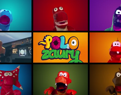 Polozaury - puppets for a marketing campaign.