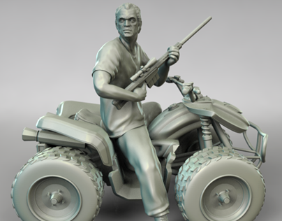 Trevor 3D Model for Printing from Grand Theft Auto