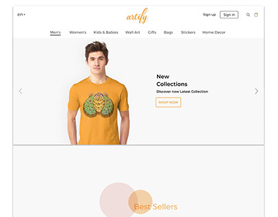 "E-Commerce Site ""Artify"
