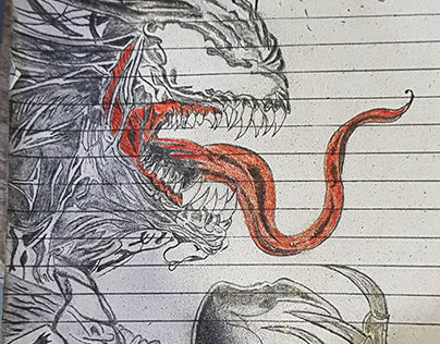 Venom Rough Sketch
