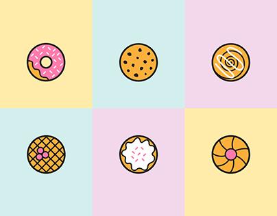 Pastry | icon set