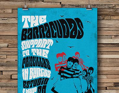 Poster Concierto The Barracudas & Priscillas