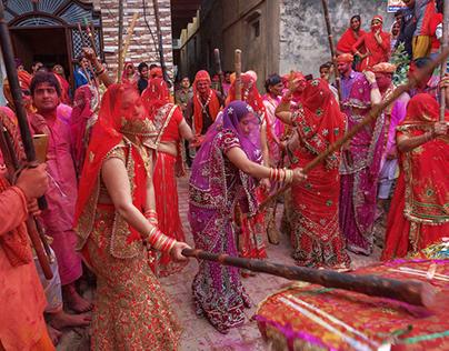 Lathmar Holi (4) Festival of Sticks & Colours