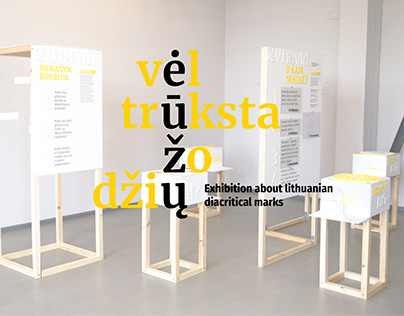 Exhibition About Lithuanian Diacritical Marks.