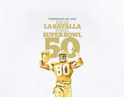 Inicia la batalla por el Superbowl 50