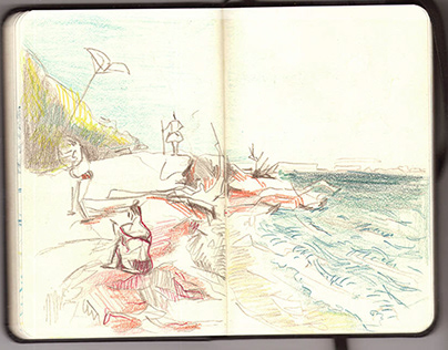 8 days = 80 pages of travel sketchbook