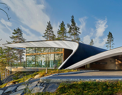 The Wave House in Mikkeli, Finland by Seppo Mäntylä