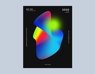 Abstract Gradient Poster