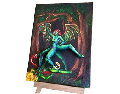 3D painting - at Maskoon Film Festival
