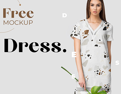 Free Elegant Dress Mockup for Fabric Designers