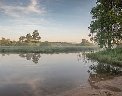 Morning light over the river