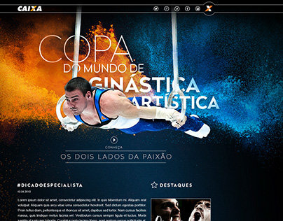 Site para Copa de Ginástica Artística