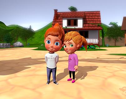 kids animation setup