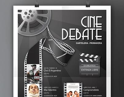 Poster - Film Debate Club (Spring Listings)