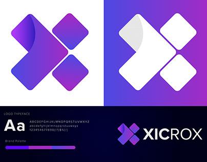 X Letter Mark   Xicrox Logo Design 2020