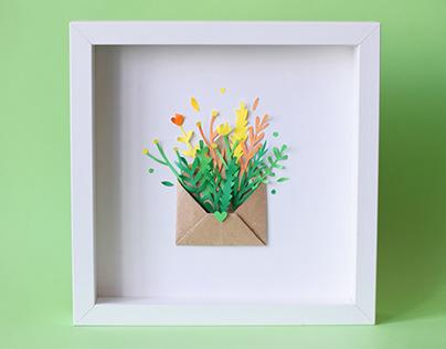 Spring DIY | Paper art