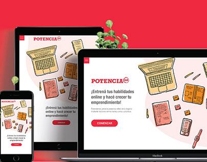 Landing page Potencia2.0 / Diseño web Responsive