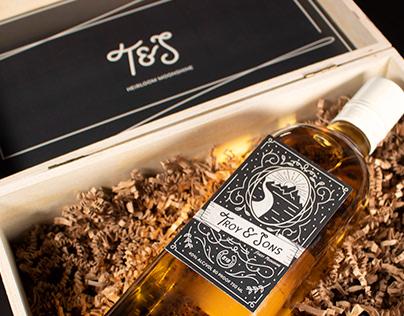 Troy & Sons Whiskey Branding