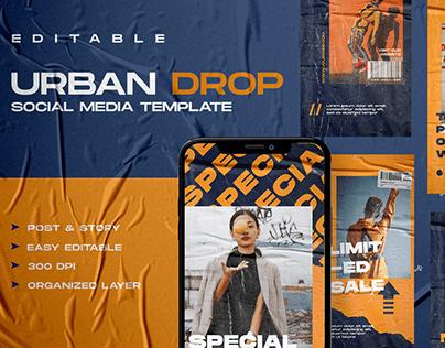 Urban Drop Social Media Template