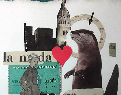 handmade collage - collage book project 09