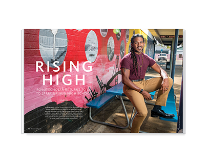 Rising High – magazine feature design
