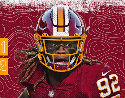 Chase Young Washington Redskins Jersey Swap
