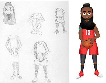 J. Harden Character Design, Stills, and GIFs