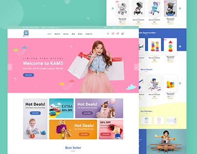 KAMS Online Store - Landingpage