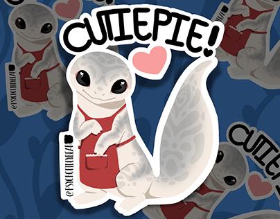Gecko Cutiepie Sticker