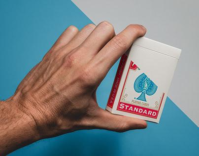 Free playing cards box mockup