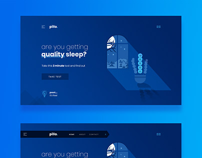 pillo. Wonderful Landing Page - free download