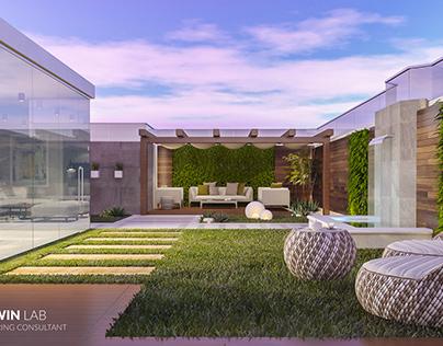 Roof Garden - Modern