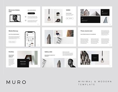 MURO - Powerpoint Template + Big Bonus