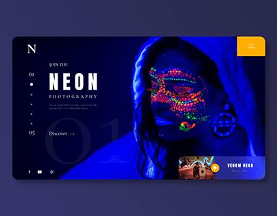 Neon Photography Concept WebApp