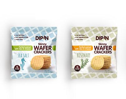 Dipin kraker ambalaj tasarımı. wafers package design