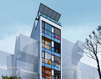 Thiết kế nhà phố 9 tầng diện tích 5,4×20m hiện đại tại