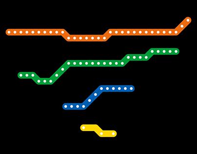 Subway Line Maps — Montréal Métro