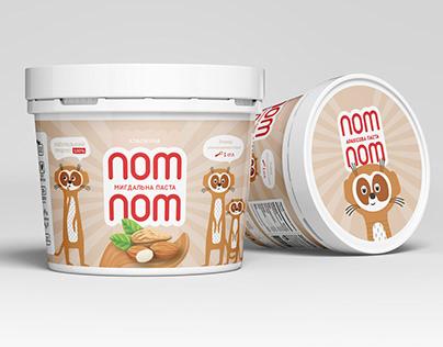 NomNom - packaging for peanut paste