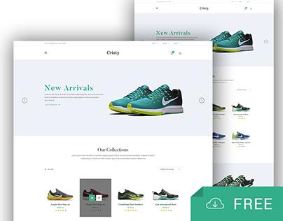 Cristy - Freebie E-commerce Template