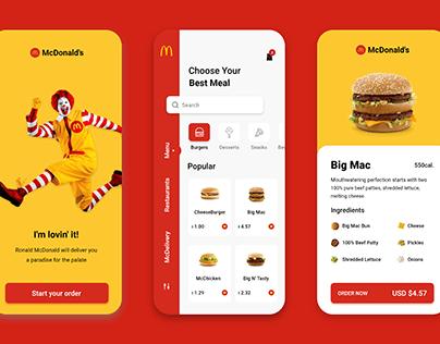 McDonald's App UI (Redesigned)